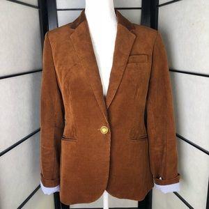 J Crew Campbell Brown Corduroy Blazer Size 8
